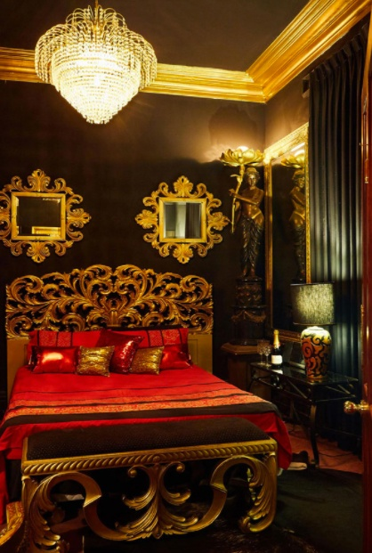 Luxury bedroom at Casey's Massage