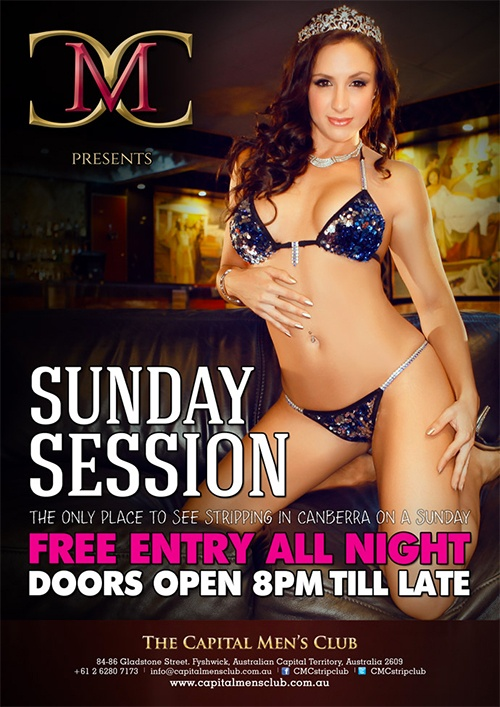 The only place to see stripping in Canberra on a Sunday